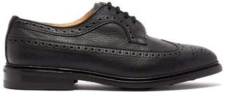 Tricker's Fulton Grained Leather Brogues - Mens - Black