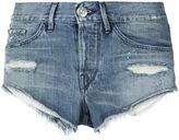 3x1 distressed shorts - women - Cotton - 28