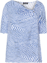 Via Appia Plus Size Wavy print jersey top