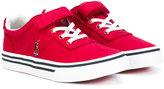 Ralph Lauren touch strap plimsoll sneakers - kids - Cotton/rubber - 22