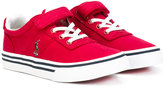 Ralph Lauren touch strap plimsoll sneakers - kids - Cotton/rubber - 27