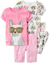 Carter's 4-Pc. Stay Cool Dog Pajama Set, Little Girls (2-6X) & Big Girls (7-16)