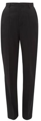 Katharine Hamnett Dina Pintucked Organic Virgin Wool-twill Trousers - Black