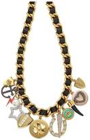 Juicy Couture Multi Charm Leather And Chain Necklace