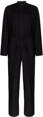 Low Classic Belted Wool Jumpsuit