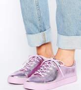 Asos Darley Metallic Clean Lace Up Sneakers