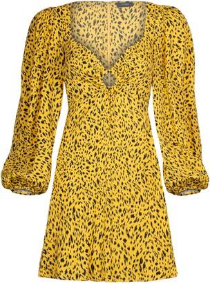 AFRM Art Print Long Sleeve Minidress