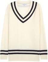 Frame Varsity Wool And Cashmere Blend Jumper