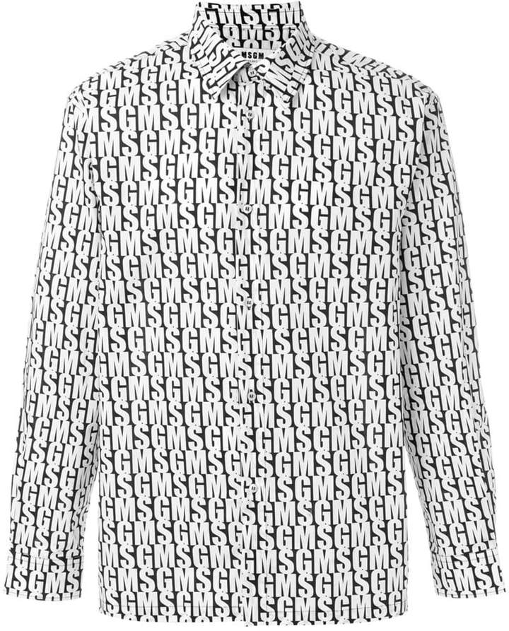 MSGM long sleeve branded shirt
