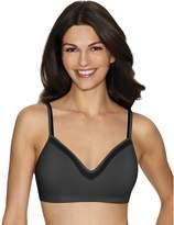 Hanes Comfort Evolution Lace ComfortFlex Fit Wirefree Bra_Gravel Grey w/Blk_X-L