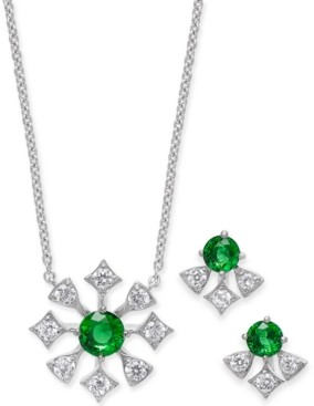 "Eliot Danori 2-Pc. Set Crystal Stud Earrings & Pendant Necklace, 16"" + 1"" extender, Created for Macy's"
