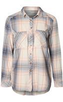Dex Blush Plaid Button Up