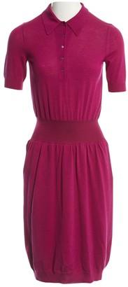 Saint Laurent Purple Wool Dresses
