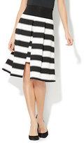 New York & Co. Overlay Full Skirt - Stripe