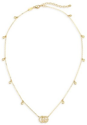 Gucci Running G 18K Yellow Gold & Diamond Station Necklace