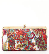 Hobo Original Lauren Paisley Double-Frame Clutch Wallet