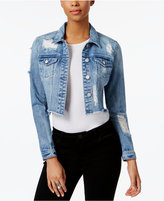 Buffalo David Bitton Embellished Cropped Denim Jacket