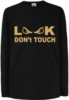 lepni.me '''Funny t shirts for kids Long sleeve Don''''t Touch! '''