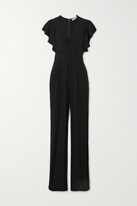 MICHAEL Michael Kors Twist-front Stretch-jersey Jumpsuit - Black