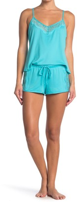 Jonquil Lace Trim Cami & Shorts 2-Piece Pajama Set