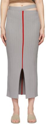 Eckhaus Latta Grey Dream Skirt