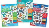 Melissa & Doug Vehicles, Ocean & Adventure Mess-Free Glitter Foam Sticker Bundle