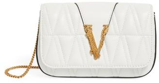 Versace Mini Leather Quilted Virtus Shoulder Bag
