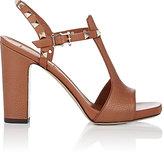 Valentino Women's Rockstud T-Strap Platform Sandals-GOLD