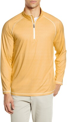 Bugatchi Quarter Zip Performance Pullover