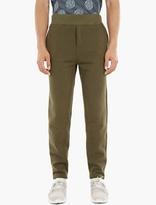 A.P.C. Green Cotton Flint Sweatpants