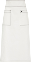 Courreges High-Waist Midi Denim Skirt