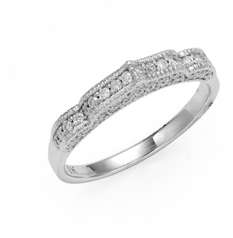 Sara Weinstock Taj 18K White Gold Diamond Midi Ring