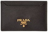 Prada Saffiano Leather Credit Card Holder.