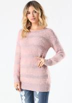 Bebe Eyelash & Sequin Sweater
