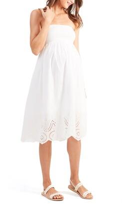 Ingrid & Isabel Smocked Maternity Dress