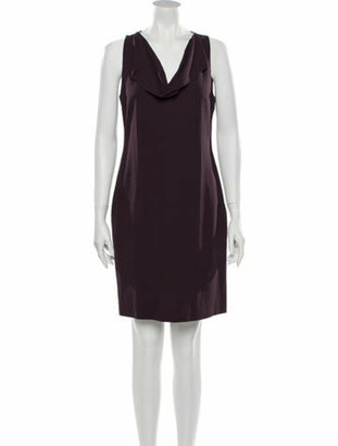 Hope Cowl Neck Knee-Length Dress w/ Tags Purple