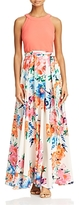 Eliza J Floral-Skirt Maxi Dress