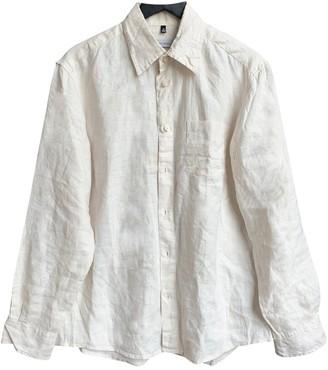 Non Signã© / Unsigned Oversize Ecru Linen Shirts