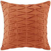 Natori N Nara Pintuck Cotton Decorative Pillow, Orange