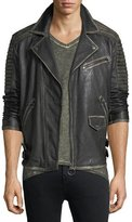 True Religion Aged Leather Biker Jacket