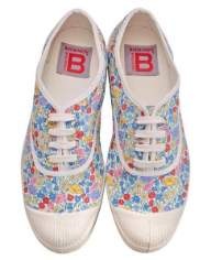 Bensimon Liberty Floral Plimsoll Shoes - Size 38 UK5 - Red/White/Blue