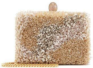 Oscar de la Renta Beaded Rogan Clutch