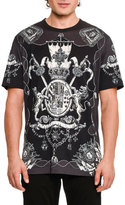 Dolce & Gabbana Nautical Crests Cotton T-Shirt, Black/White