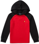 Ralph Lauren Boys' Colorblock Waffle Knit Hoodie - Sizes 4-7