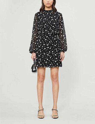 Ted Baker Floelle polka dot crepe mini dress