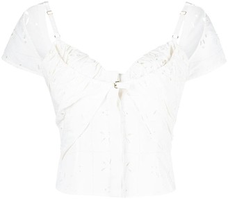 Jacquemus Broderie Anglaise Blouse