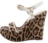 Dolce & Gabbana Leopard Print Platform Wedges