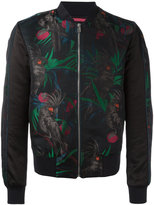 Paul Smith parrot jacquard bomber jacket - men - Cotton/Nylon - S