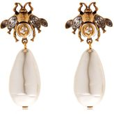 Gucci Bee Imitation Pearl Earrings