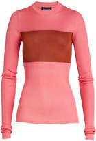Calvin Klein Ribbed Silk Pullover